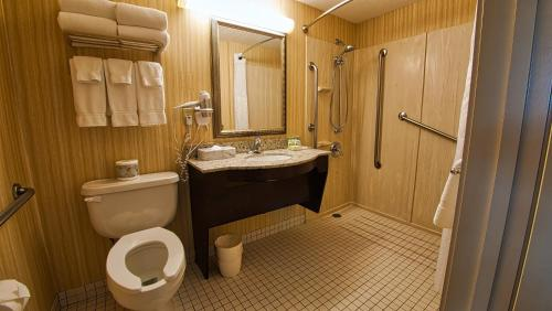 A bathroom at Holiday Inn Canmore, an IHG Hotel