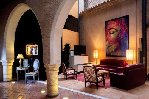Zona de estar de Hotel Monasterio Benedictino