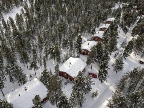 Ukonjärven Holiday Village in de winter