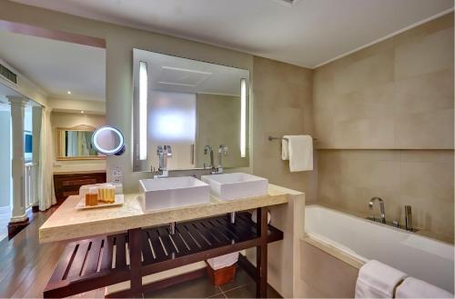 A bathroom at Mystique St Lucia by Royalton