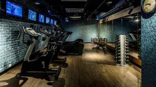 The fitness centre and/or fitness facilities at Hotel G Singapore (SG Clean, Staycation Approved)