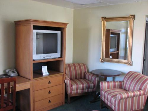 A television and/or entertainment center at Gateway Lodge