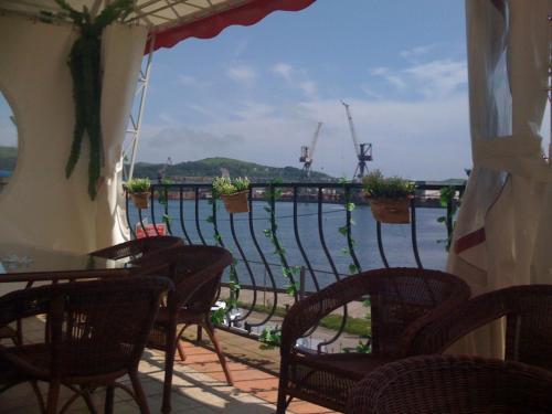 A balcony or terrace at Pallada