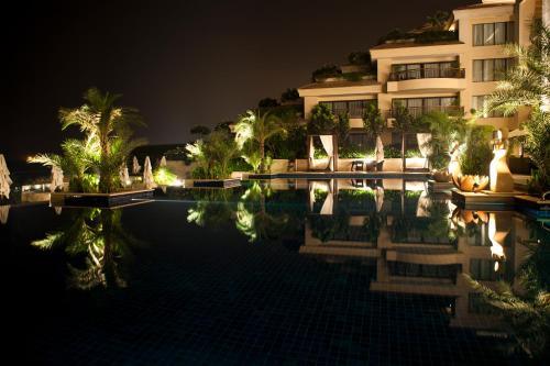 The swimming pool at or near Vivanta Surajkund, NCR