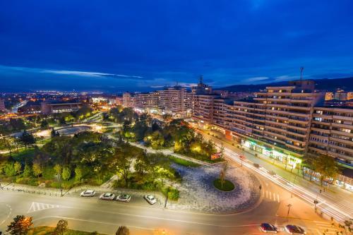Vedere de sus a Hotel Cetate Imparatul Romanilor