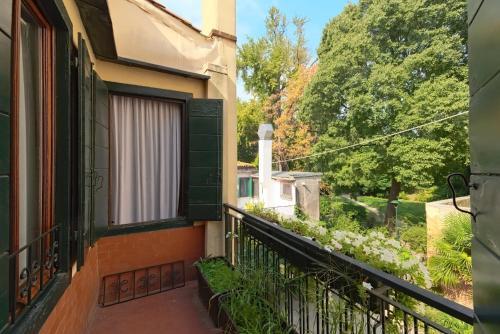 A balcony or terrace at Albergo Al Gobbo
