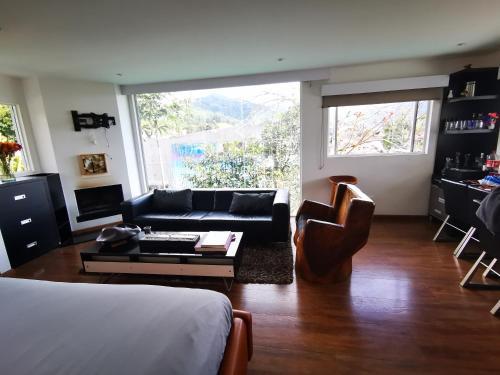 Zona de estar de Casa de las Dos Palmas