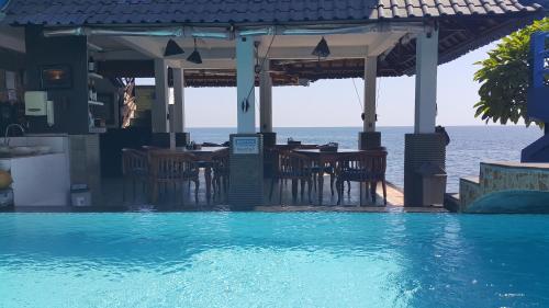 The swimming pool at or near Matahari Tulamben Resort, Dive & SPA