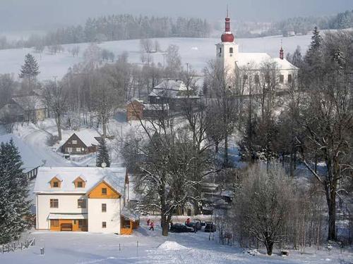 Horská chata Hrad Sedloňov v zimě