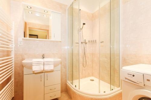 Koupelna v ubytování Vinohrady Apartments Na Kozacce
