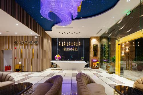 The lobby or reception area at Senia Hotel Nha Trang