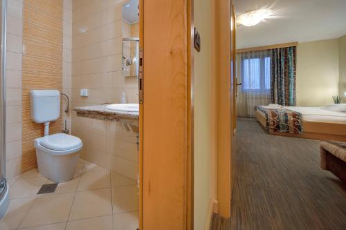 Een badkamer bij Hotel Malovec