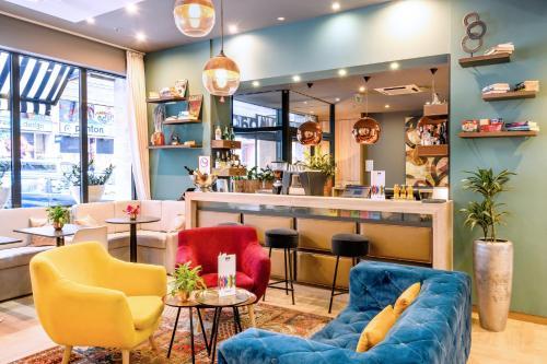 De lounge of bar bij Roombach Hotel Budapest Center