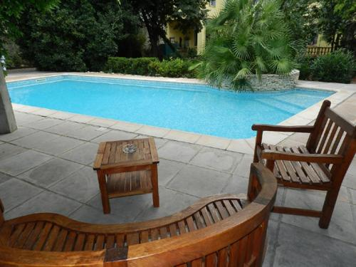 The swimming pool at or near Les Buis