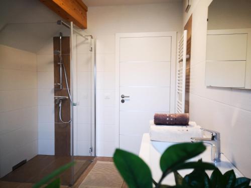 A bathroom at Ferienwohnung Bergfeeling