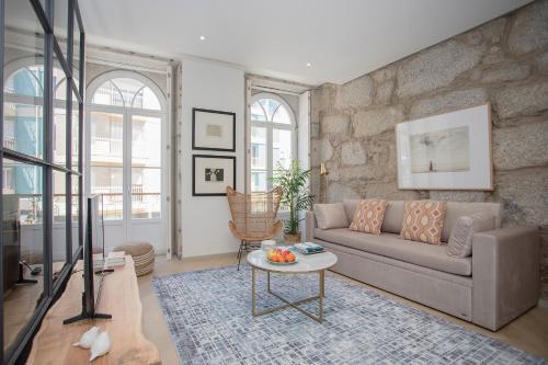 Zona de estar de Liiiving in Porto - Luxury Beachfront Apartments