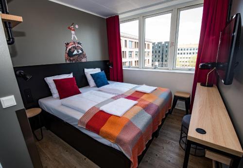 Cama o camas de una habitación en Generator Copenhagen