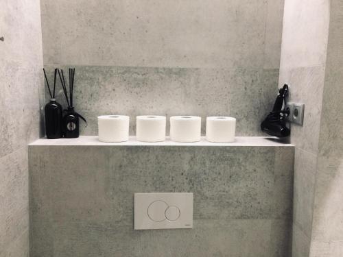 Łazienka w obiekcie Fractal Guest Rooms - Andersia Square Center