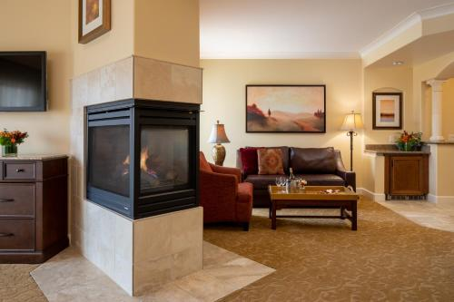 A seating area at The Meritage Resort and Spa