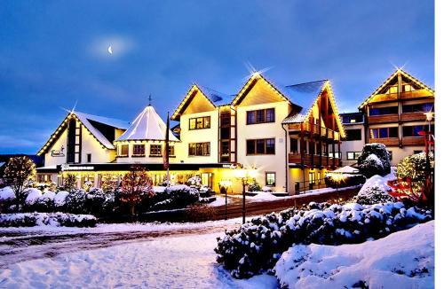 Hotel Freund during the winter