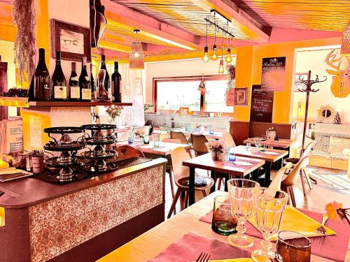 Le Relais de la Vanoiseにあるレストランまたは飲食店
