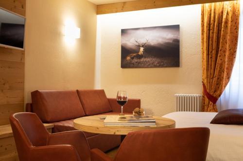 Area soggiorno di Hotel Petit Tournalin