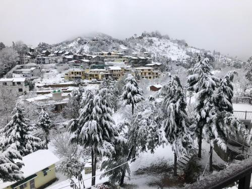Khushi Cottage during the winter