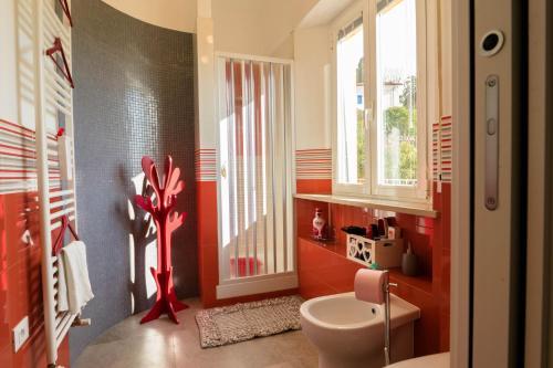 A bathroom at Casa Linda