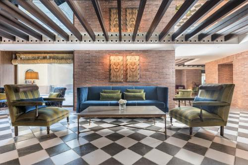 A seating area at Palacio Solecio, a Small Luxury Hotel of the World