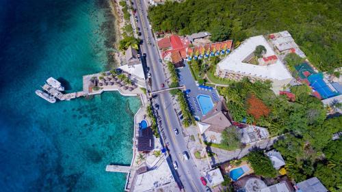A bird's-eye view of Casa del Mar Cozumel Hotel & Dive Resort