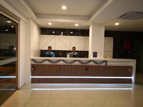 The lobby or reception area at Walk In Hotel