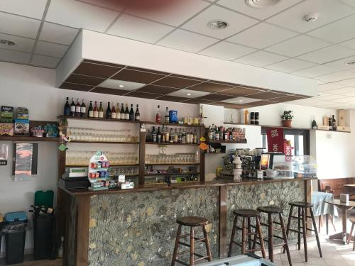 The lounge or bar area at Albergo Parco Gran Sasso