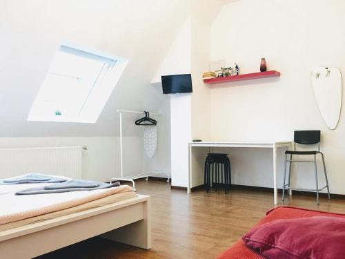 Łóżko lub łóżka w pokoju w obiekcie Dortmund Flats