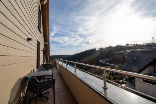 A balcony or terrace at UplandParcs Bergblick