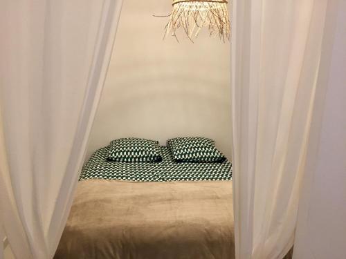 A bed or beds in a room at ★★★ Paradis Prado Mermoz proximité Mer★★★