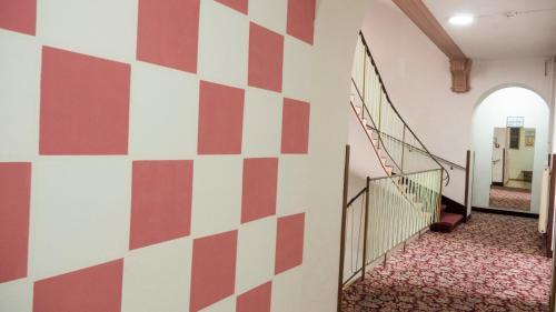 A bathroom at Hotel Hadrigan