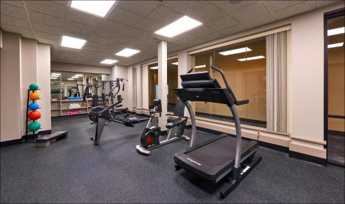 The fitness center and/or fitness facilities at Four Queens Hotel and Casino