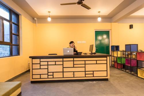 Lobby/Rezeption in der Unterkunft Sunshine Resort Pokhara