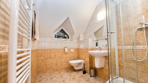 Ванная комната в Apartmány Pod Čerťákem