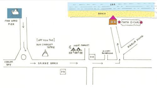 The floor plan of Mama O Chai Koh Tao