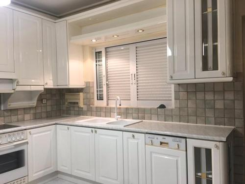 A kitchen or kitchenette at Apartments Kanakis 16 Near the Airport Athens