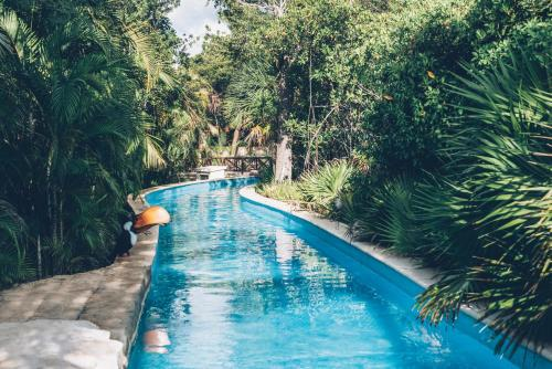 The swimming pool at or near Iberostar Selection Paraiso Maya Suites