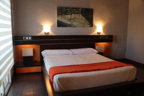 Cama o camas de una habitación en Hotel Las Navas
