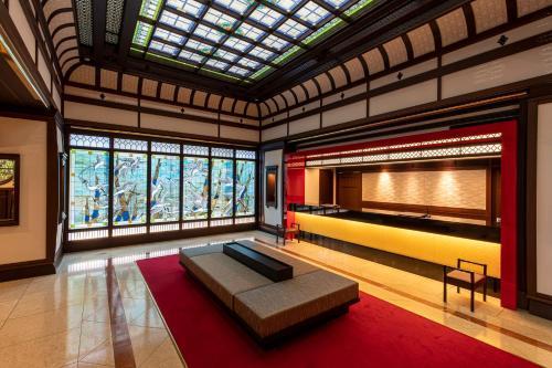 Een zitgedeelte bij Kyoto Yamashina Hotel Sanraku