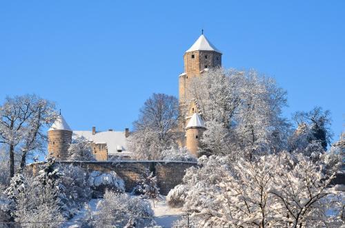 Landgasthof Falken during the winter