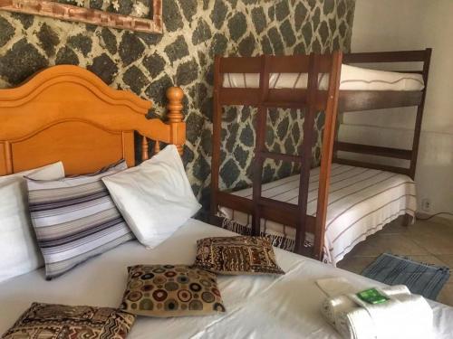 Cama ou camas em um quarto em Anexo D'Pillel
