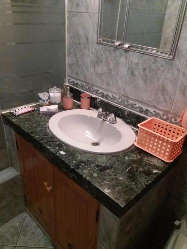 A bathroom at Pochy's house