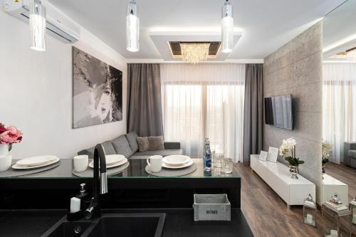 Koupelna v ubytování Crystal Luxury Apartments Rakowicka 20H