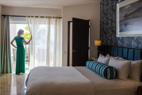 Cama o camas de una habitación en One Bedroom Ocean View Suite In Medano Beach