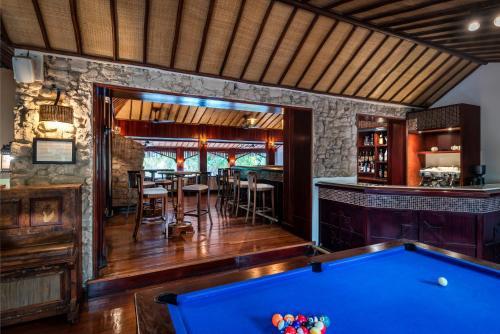 A billiards table at Anantara Bazaruto Island Resort